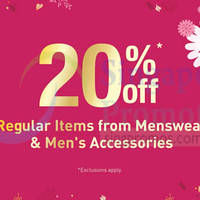 Read more about BHG 20% Off Men's Items Promotion 9 - 18 Jan 2015