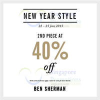 Read more about Ben Sherman 40% Off 2nd Piece 24 - 25 Jan 2015