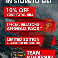 Read more about Billabong Spend $108 & Get 10% Off & Free Gifts 7 Jan 2015