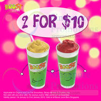 Read more about Boost Juice Bars 2 Boosts For $10 Promo 1 - 31 Jan 2015