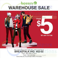 Bossini Warehouse SALE 30 Jan - 10 Feb 2015