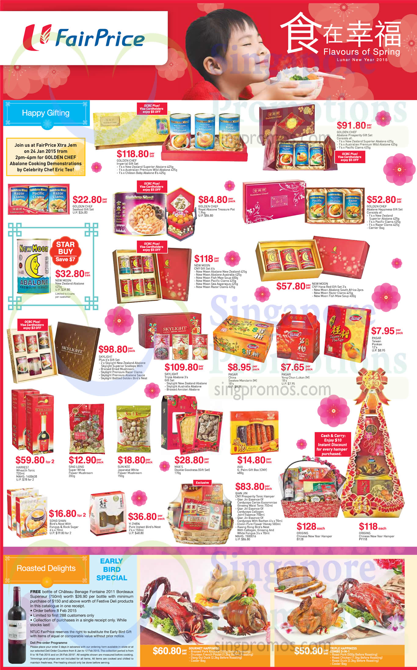 CNY Gift Sets, Hampers, Abalone, Seafood, Bird Nest, Essence of Cordyceps, Qian Jin, Golden Chef, New Moon