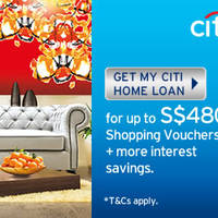Read more about Citibank Home Loan Up To $480 Vouchers & 1.26% p.a. Promo 21 Jan - 31 Mar 2015