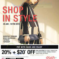 Read more about Dorothy Perkins, Miss Selfridge & Topman 20% + $20 Off For Dash Payments 29 Jan - 18 Feb 2015
