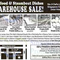 Ed's Frozen Enterprise Warehouse Sale 24 Jan - 18 Feb 2015