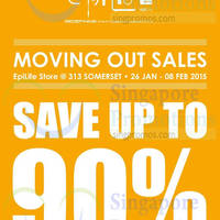 EpiLife Moving Out Sale @ 313Somerset 26 Jan - 8 Feb 2015