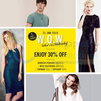 Read more about Topshop, Topman, Miss Selfridge & Dorothy Perkins 30% Off 1-Day Sale 21 Jan 2015