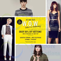 Topshop, Topman, Miss Selfridge & Dorothy Perkins 50% Off Bottoms 1-Day Sale 28 Jan 2015