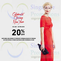 F3 Fashion Brands 20% off CNY Promotion 29 Jan - 18 Feb 2015