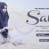 FashionValet 20% OFF Muslimah Wear Coupon Code (NO Min Spend) 30 Jan - 3 Feb 2015