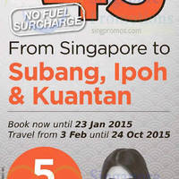 Read more about Firefly From $45 (all-in) Fares Promo 20 - 23 Jan 2015
