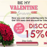 Read more about FlowerAdvisor 15% OFF Storewide Coupon Code 22 - 31 Jan 2015