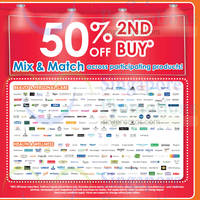 Read more about Guardian 50% OFF 2nd Buy (Over 100 Brands) 8 - 28 Jan 2015