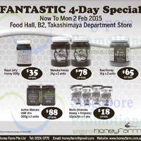 HoneyFarm 4-Day Sale @ Takashimaya Department Store 30 Jan - 2 Feb 2015