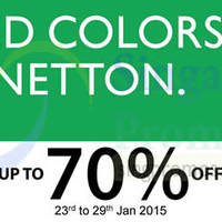 United Colors of Benetton Kids Apparels Sale @ Parkway Parade 23 - 29 Jan 2015