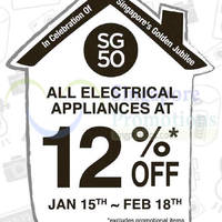 Read more about Japan Home 12% Off Electrical Appliances @ Islandwide 15 Jan - 18 Feb 2015