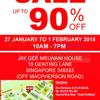Read more about Jay Gee (Celio, T.M.Lewin, Levi's, Denizen, etc) Warehouse SALE 27 Jan - 1 Feb 2015