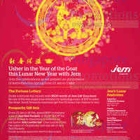 Read more about Jem CNY Promotions & Activities 23 Jan - 5 Mar 2015