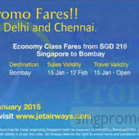 Read more about Jet Airways India Promo Fares 24 - 31 Jan 2015