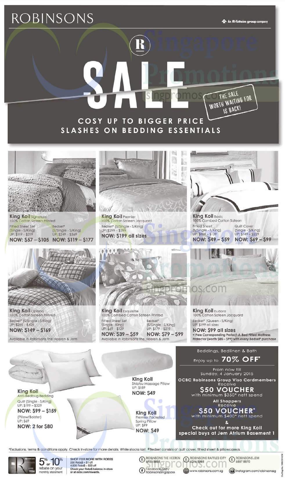 King Koil Bedding Essentials, Bedsheet Sets, Pillows
