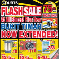 Read more about Courts Up To 75% Off 1-Day Flash Sale Offers 9 Jan 2015