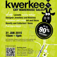 Kwerkee CNY Warehouse Sale 31 Jan 2015