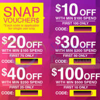 Read more about Lazada Singapore $10 to $100 OFF Coupon Codes 16 - 18 Jan 2015