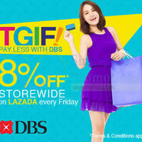 Read more about Lazada 8% Off Storewide With DBS/POSB Cards (Fridays) 23 Jan 2015