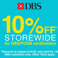 Read more about Lazada 10% Off Storewide (NO Min Spend) With DBS/POSB Cards 1-Day Promo 27 Jan 2015
