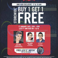 Read more about Levi's Buy 1 Get 1 FREE Storewide @ AMK Hub 17 - 18 Jan 2015