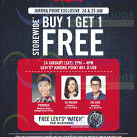 Read more about Levi's Buy 1 Get 1 FREE Storewide @ Jurong Point 24 - 25 Jan 2015