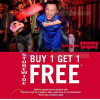 Levi's Buy 1 Get 1 FREE Storewide 30 Jan 2015