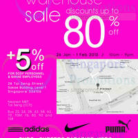 Read more about Link THM Nike, Puma, Adidas & More Sale @ Tai Seng 26 Jan - 1 Feb 2015