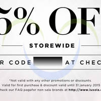 Read more about Luxola 15% OFF Storewide (NO Min Spend) Coupon Code 15 - 31 Jan 2015