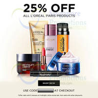 Read more about Luxola 25% OFF L'Oreal Paris (NO Min Spend) Coupon Code 7 - 9 Jan 2015