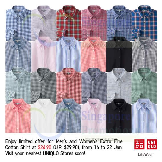 Mens n Womens Extra Fine Cotton Shirt