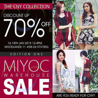 Read more about Miyoc Up To 70% OFF Warehouse SALE 16 - 18 Jan 2015