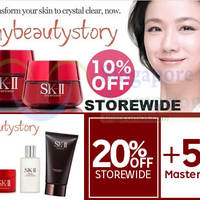 Read more about My Beauty Story 25% OFF SK-II, Clarins & More (NO Min Spend) 1-Day Coupon Code 13 Jan 2015