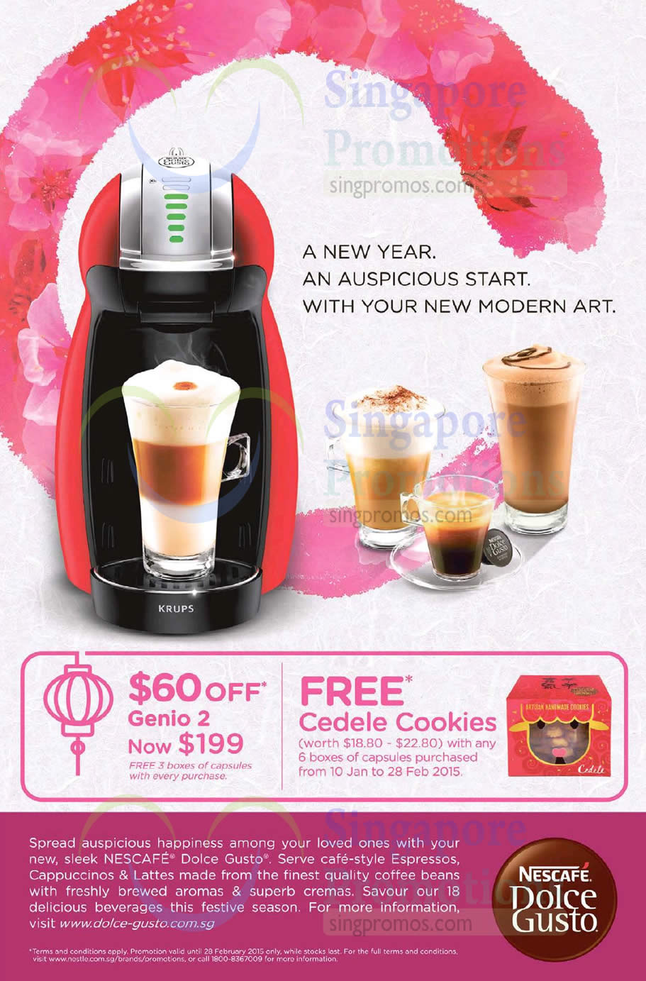 nescafe dolce gusto genio 2 promotion offer 18 jan 28. Black Bedroom Furniture Sets. Home Design Ideas