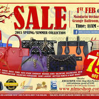 Nimeshop Branded Handbags Sale @ Mandarin Orchard 1 Feb 2015