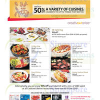 Read more about OCBC Up To 50% Off Dining Offers @ Creative Eateries Outlets 22 Jan - 31 Mar 2015
