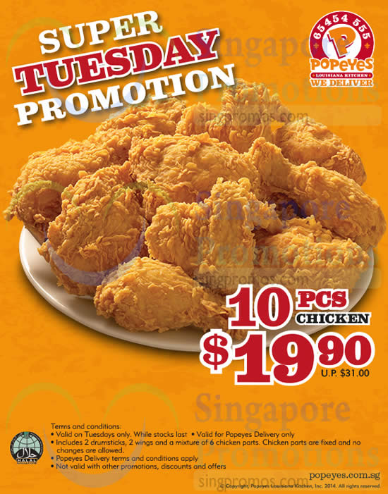 Popeyes Tuesday Chicken Special: Popeyes is still running a nationwide tuesday promotion that gets you a $ a chicken drumstick & a chicken thigh for just $. Some restaurants charge $ for this combo, but its stillan amazing deal.