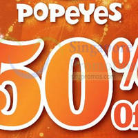 Popeyes 50% OFF Delivery Coupon Code 1-Day Promo 31 Jan 2015