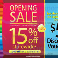 Read more about Popular 15% Off Storewide @ New Outlets 16 Jan - 1 Feb 2015