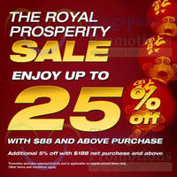 Read more about Royal Sporting House Up To 25% OFF SALE 15 Jan - 28 Feb 2015