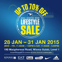 Royal Sporting House LifeStyle Sale @ Wisma Gulab 28 - 31 Jan 2015