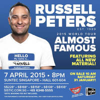 Russell Peters Almost Famous World Tour Ticketing Opens 31 Jan 2015