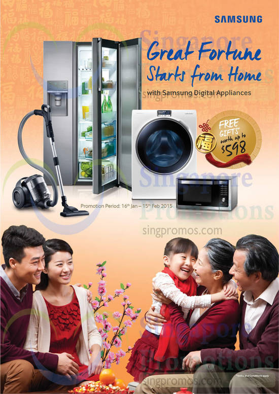 Samsung Digital Appliances, Free Gifts, Promotion Period