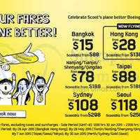 Scoot From $15 Promo Fares 30 Jan - 1 Feb 2015