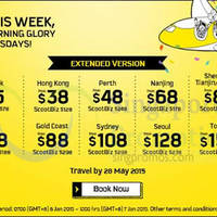Read more about Scoot From $15 29hr Promo Air Fares 6 - 7 Jan 2015